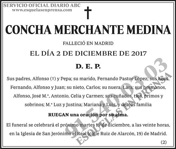Concha Merchante Medina